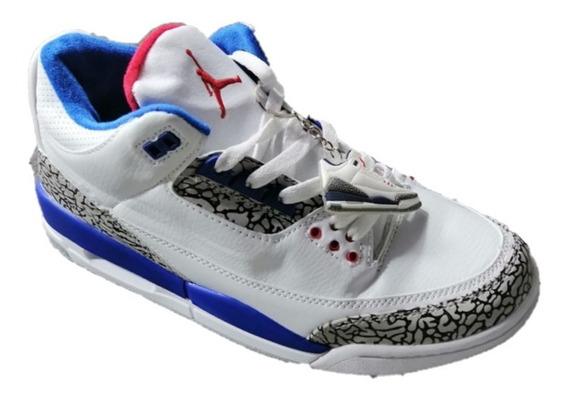 Jordan 3 Retro True Blue Hombre, Envío Gratis
