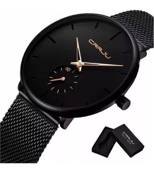 Relógio Masculino Ultra Fino A Prova D