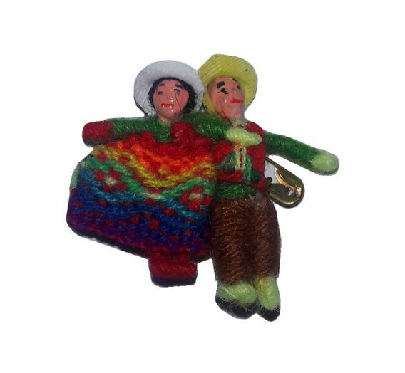 Prendedor Pin Coyita Andina Aguayo Souvenirs X10u