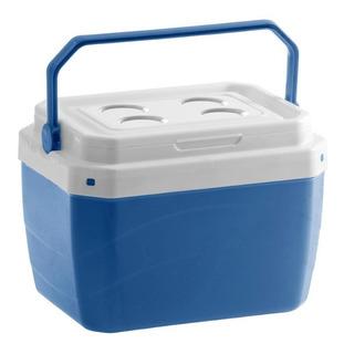 Caixa Térmica 17 Litros Cooler Portátil Com Trava Alça Praia