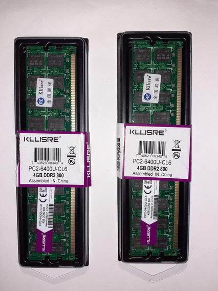Memoria Ram Ddr2; 8 Gb 800mhz (2×4) Para Amd, Kllisre