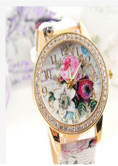 Relógio Feminino Couro Dial Aço Inoxidável Relógio De Pu