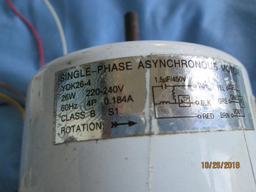 Motor Aire Split 12000 Y 18000 Btu, Ydk26-4, 220v Y Otros