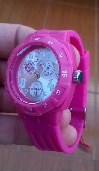 Relógio Feminino Condor Analógico Casual Rosa Kz45009w