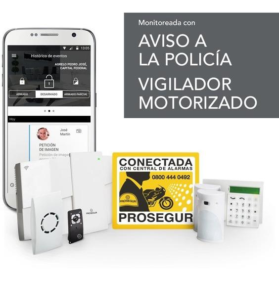 Kit Alarma Inalambrica Con Cámaras P/ Oficina 3-4 Ambientes