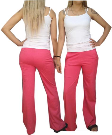 Pantalon Recto Tipo Liquido Algodon 100% Unico Talle
