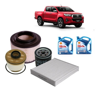 Cambio Aceite Y Filtros Shell Helix 10w40 P/ Toyota Hilux