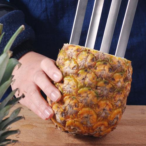 Imagen 1 de 5 de Easy Kitchen Tool Stainl Fruit Piña Descorazador Cortador C