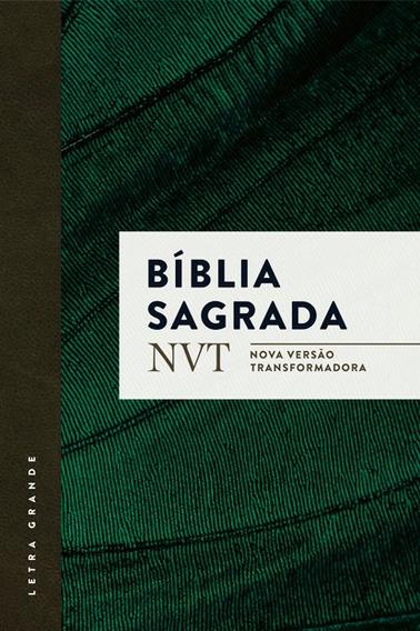 Lote 20 Unid Bíblia Nvt Letra Grande Capa Verde Com Aba