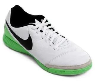Chuteira Tênis Nike Futsal Tiempox Genio Ii Leather Ic 9037