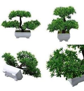 Decoración Artificial Bonsai Árbol Planta Olla Falsa Si-4797