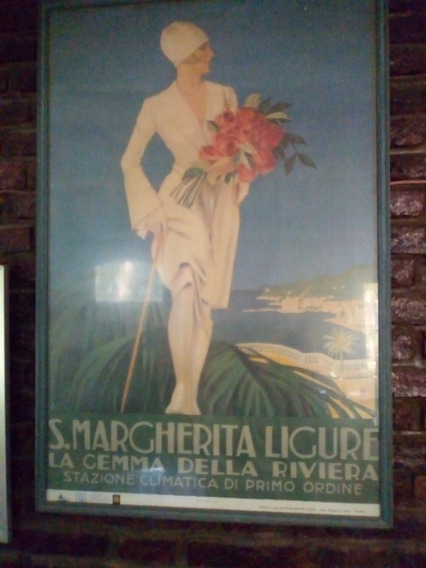 Antiguo Poster De S. Margherita Ligure 1968