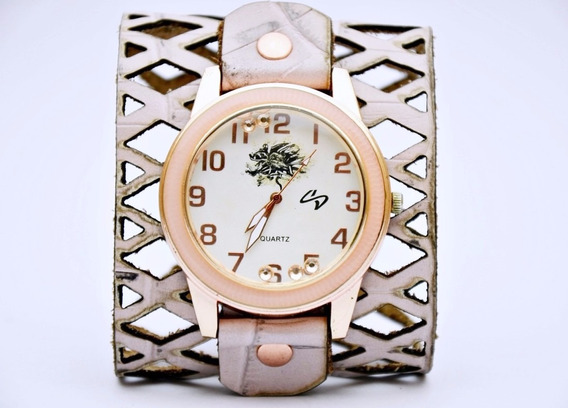 Relógio Feminino Pulseira Rosê - Frete Grátis