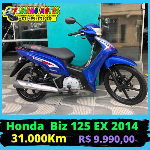 Honda Biz 125 Ex 2014 Azul Novíssima!!!