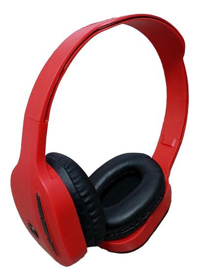 Fone De Ouvido Bluetooth Verm S Fio C Rádiofm Cartãosd Stere