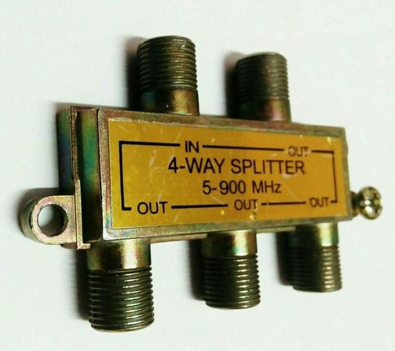 Splitter Derivador Divisor 4 Vías C/terminales P/coaxil