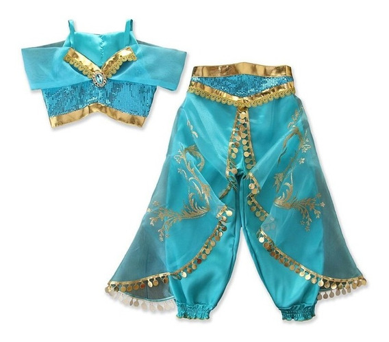 Vestido Fiesta Disfraz Princesa Jazmin De Aladino Disney
