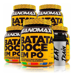 5x Batata Doce 800g - Sanomax + Coqueteleira + Frete Grátis