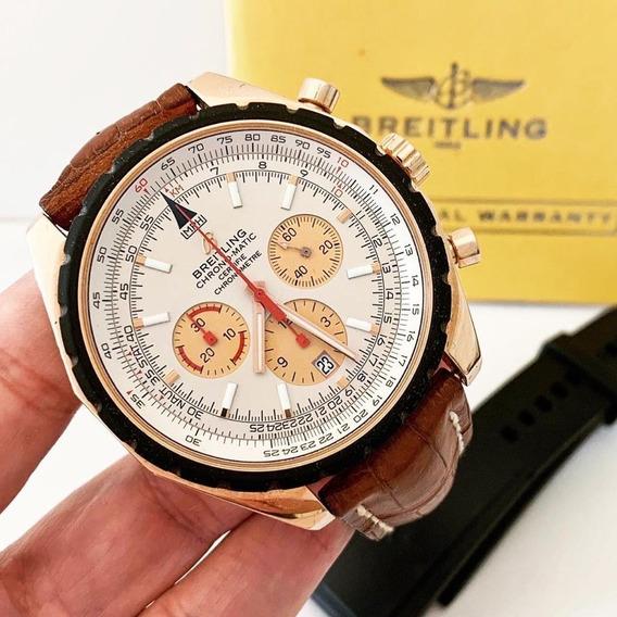 Breitling Navitimer Chrono-matic 49 Ouro Rosé Completo