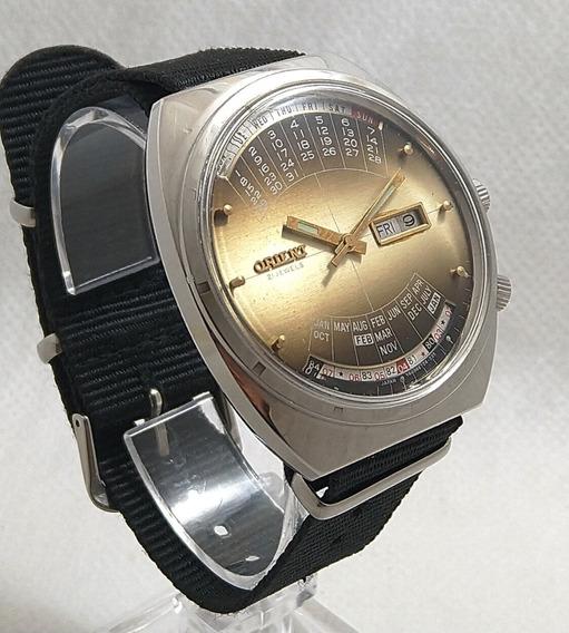 Relógio Orient Automatico Multi-year Calendar Raridade 70s