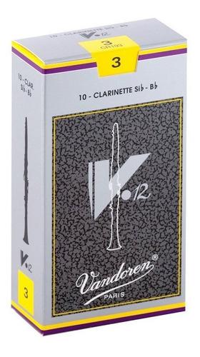 Pack De Cañas Vandoren V12 Cr193 De Clarinete Bb Sib N3 X10u