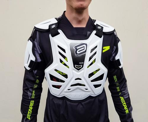 Colete Motocross Asw Maxx Branco Trilha Enduro Bmx Atv