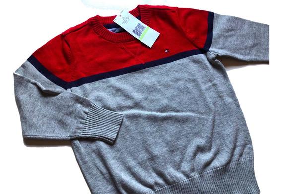 Sueter Sweater Tommy Hilfiger Blusa Frio Infantil Menino Ori