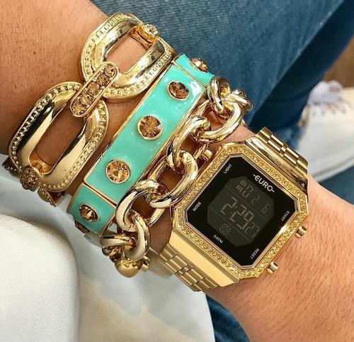 Relógio Euro Fashion Fit- Dourado