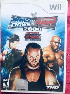 Videojuego Para Wii Smackdown Vs Raw Usado Buen Estado