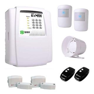 Kit Alarme Residencial Comercial Com 4 Sensores Sem Fio