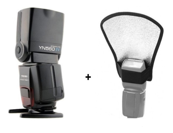 Flash Yongnuo Yn 560 Iv Universal + Rebatedor / Difusor