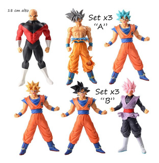 Set Lote X3 Muñecos Dragon Ball Super Goku Black Rose Jiren