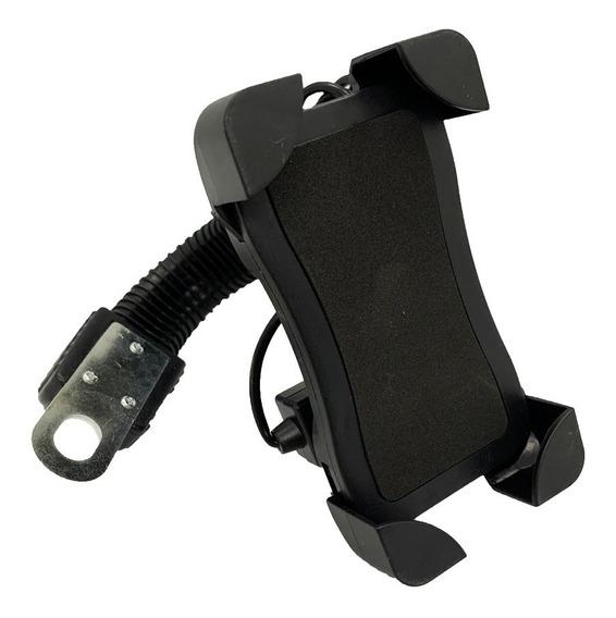 Suporte Com Carregador Usb Celular Gps Moto Universal B-66