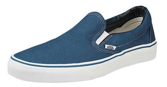 Tenis Vans Classic Slip-on Azul Talla De #25 A #28 Hombre