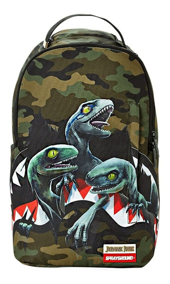 Mochila Sprayground Jurassic Park Dinosaurio Rex Blue Park New Original