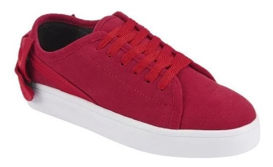 Tenis Para Dama, Color Rojo, Mundo Terra 020491