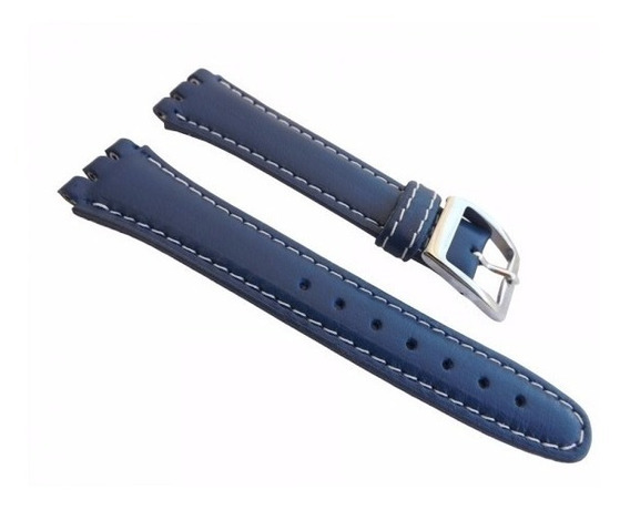 Pulseira Swatch Corvin Racer Azul E Preta Irony 19mm