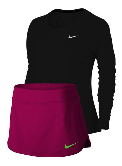 Conjuntos Dri Fit Unicolor Dama Nike