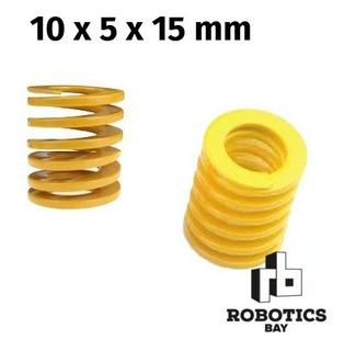 Resorte Amarillo Para Cama Caliente 10x5x15mm 50% Compresión
