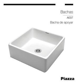 Bacha/pileta Lavatorio Loza Porcelana Piazza De Apoyar A037