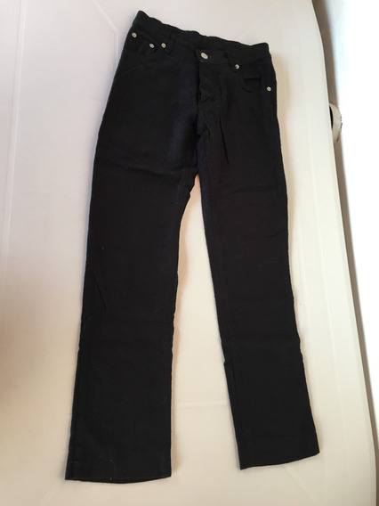 Pantalon Negro Algodon Y Poliester T. S