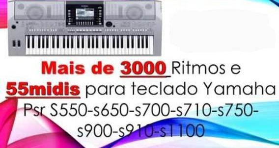 3000 Ritmos E 55 Midis Yamaha Psr S550-s650-s700 E Etc