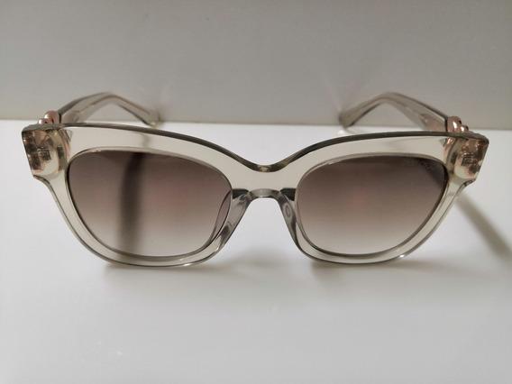 Óculos Sol Jimmy Choo Maggie Uyrjd Bege Acetato Transparente