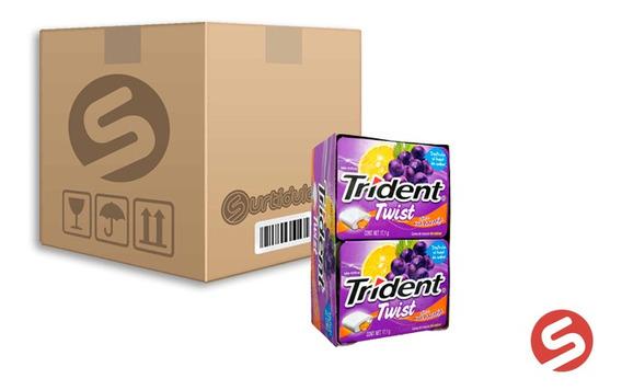 Trident Twist Uva/naranja 18/10pzs