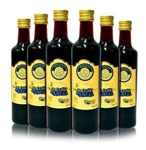 Vinagre De Maçã Orgânico Ou Vinho Tinto 6x500ml