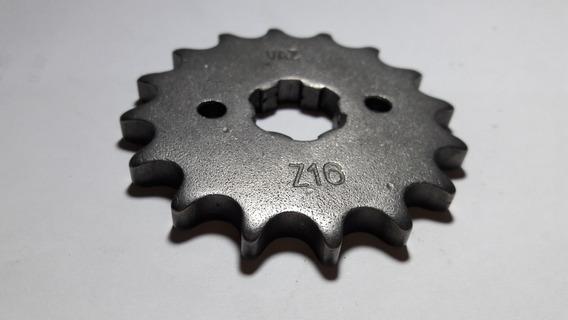 Pinhão 16 Dentes Marca Vaz Da Titan 150 Em Aço 1045
