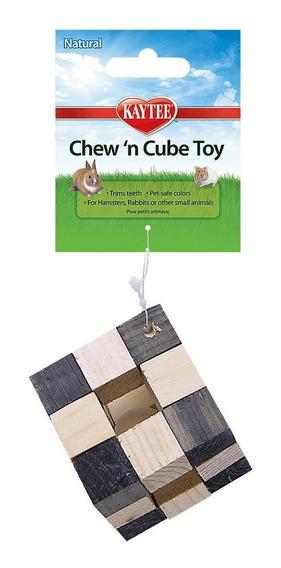 Cubo Madera Jugue/hamster Herbo Cuyo Chinchilla Conejo Erizo