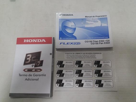 Mg Manual Do Proprietário Honda Cg 150 Titan Esd/ex/fan 2015