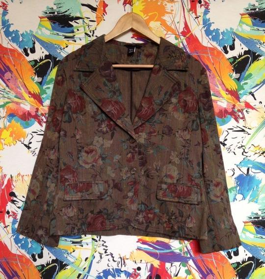Blazer Florido H&m Blusa Social Casaco