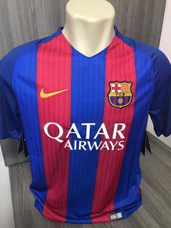Camisa Barcelona I Nike 2016/2017 Neymar, Messi, Suarez